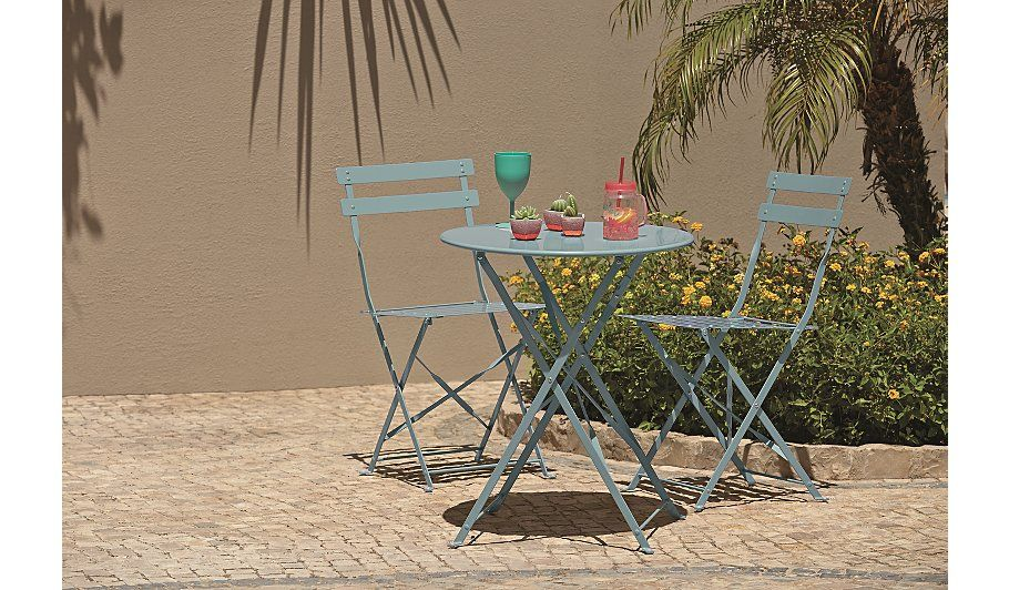 Heritage 3 Piece Bistro Set Blue, read reviews and buy
