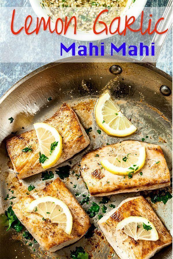 Easy Perfect Mahi Mahi Recipe - Chew Out Loud Lemon Garlic Mahi Mahi. Amazingly tender, flaky, heal