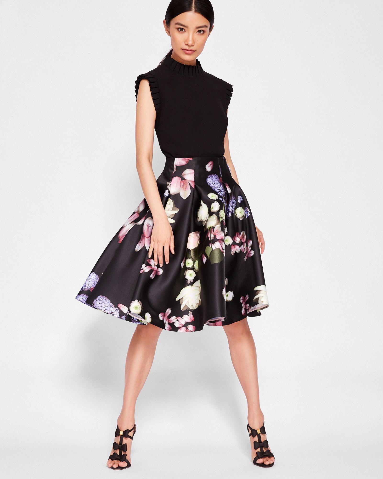 d63dea6979475f Kensington Floral full skirt - Black