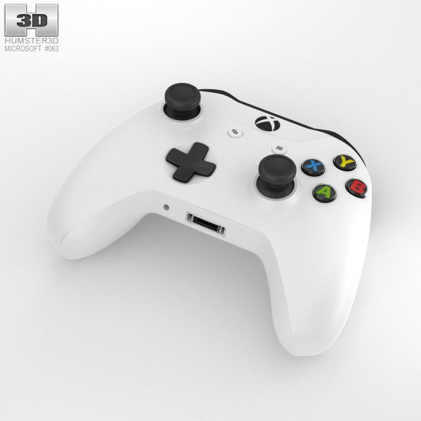 Microsoft Xbox One S Controller 3d Model From Humster3d Com Technik