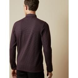 Photo of Long-sleeved polo shirt with micro-print Ted Baker