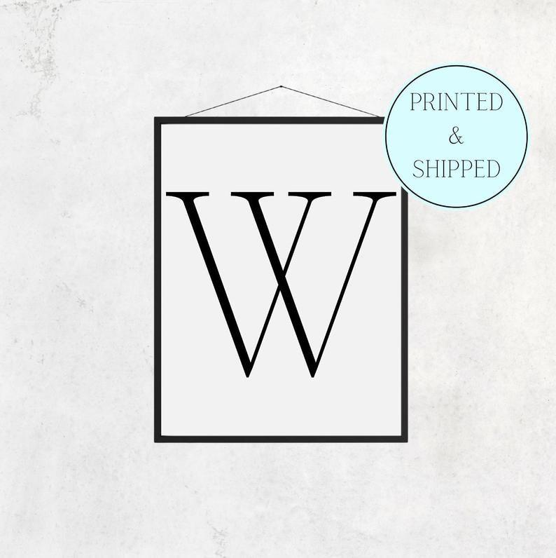 W Print Letter W Print Alphabet Print Letter Print Simple   Etsy