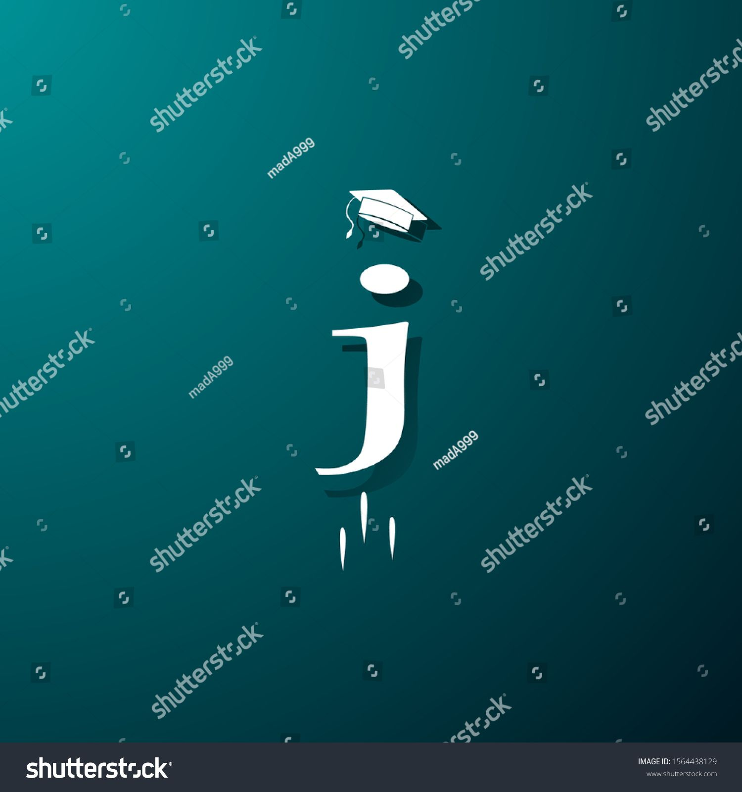 Photo of J Jump Graduation Dream All Students Stock Vector (Royalty Free) 1564438129