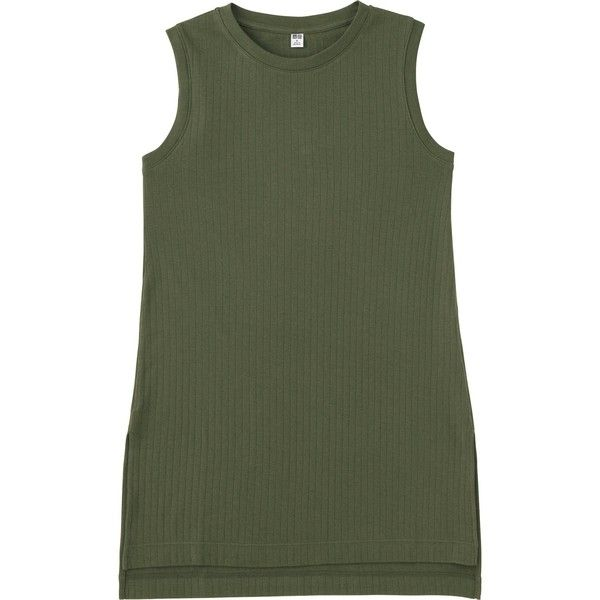 f7df4d9d8cd00 UNIQLO Women s Ribbed Long Sleeveless T-Shirt ( 15) ❤ liked on Polyvore  featuring tops