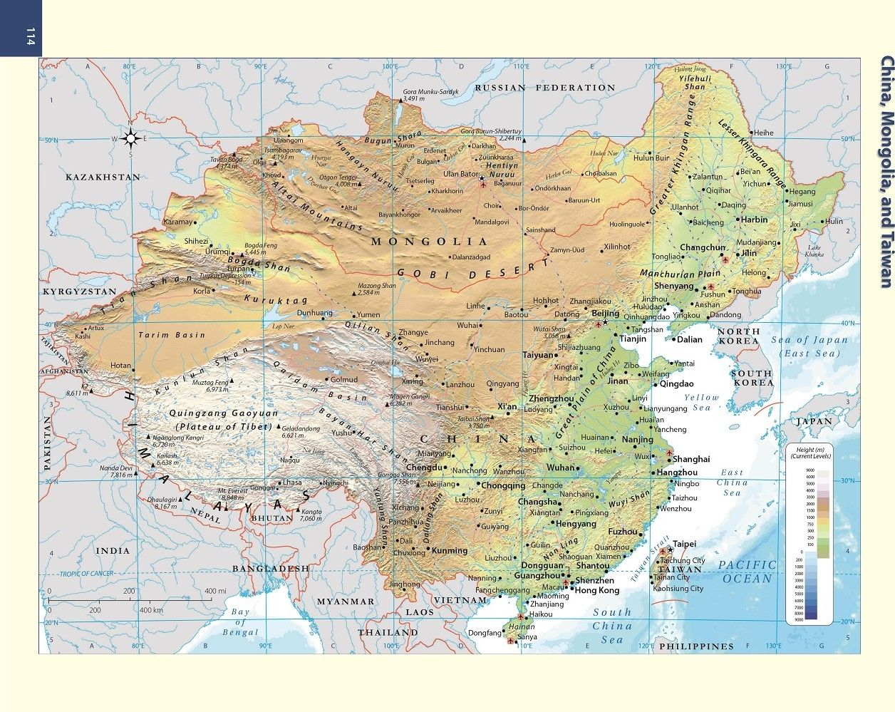 china mongolia and taiwan physical map Map Of China Mongolia And Taiwan china mongolia and taiwan physical map
