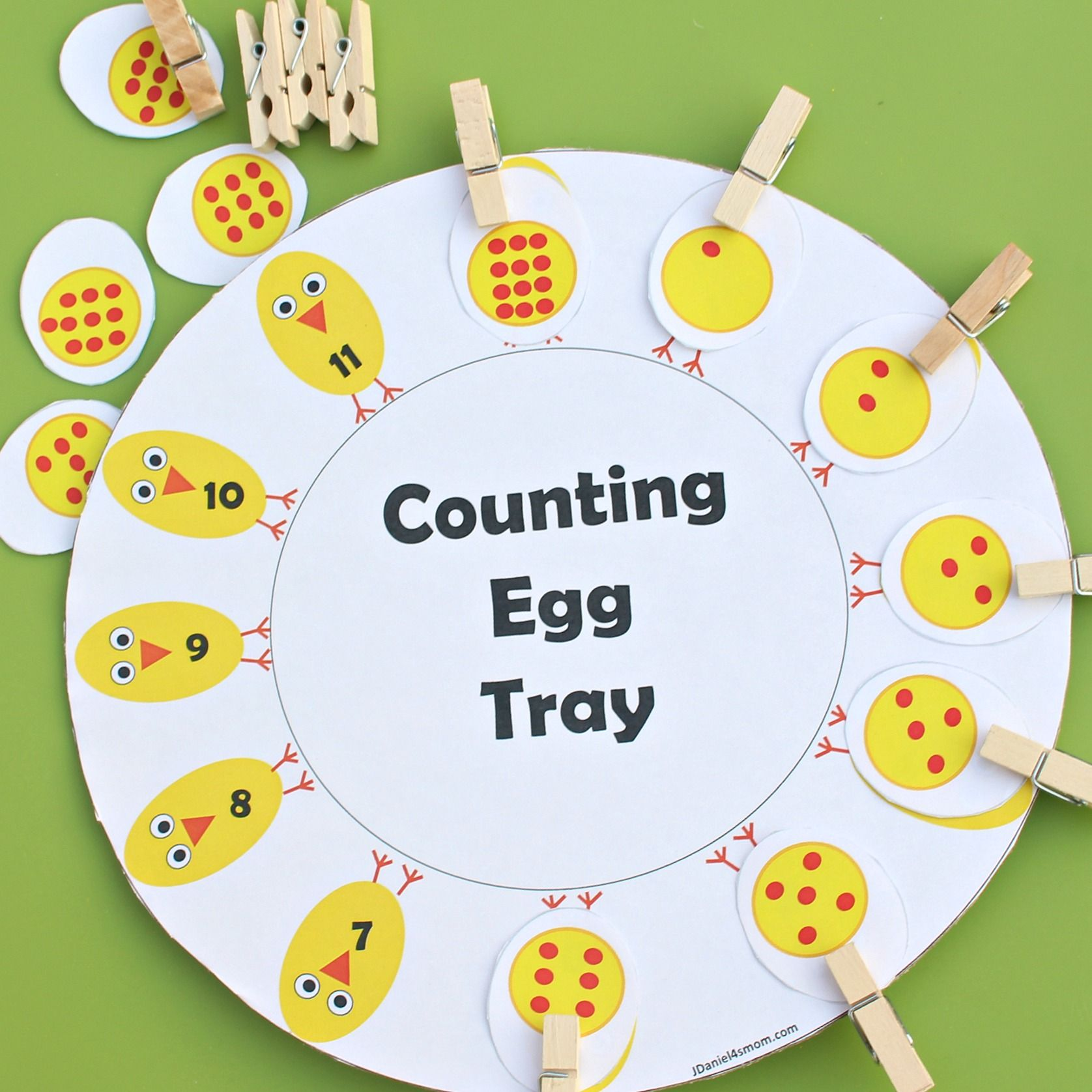 Number Recognition Counting Egg Tray