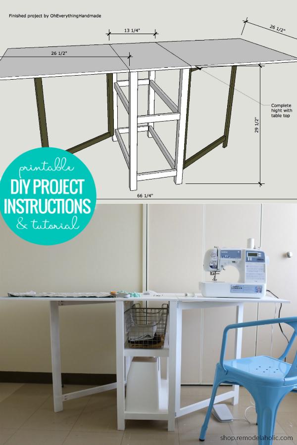 Diy Folding Craft Table Foldable Desk Woodworking Plans In 2020 Woodworking Desk Plans Craft Table Diy Foldable Desk