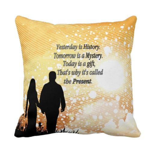 Alice Earle inspirational quote on this orange/yellow throw pillow is about appreciating the gift of life. Also available in mint green in my store.