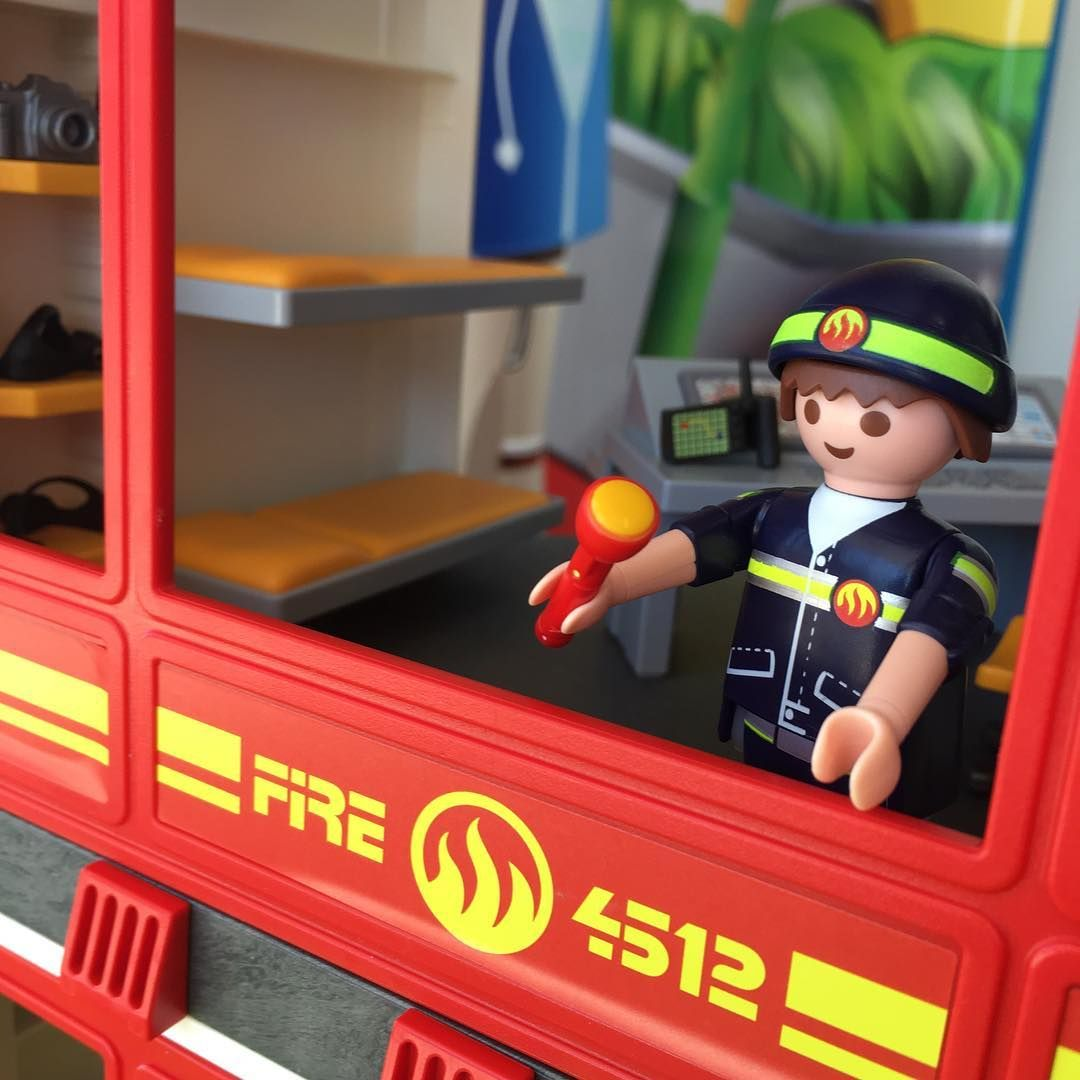 My New Playmobil Fire Station Meets Inspection Approval Now To Set