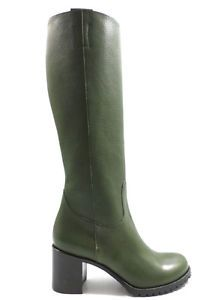 stivali verdi in pelle donna 39