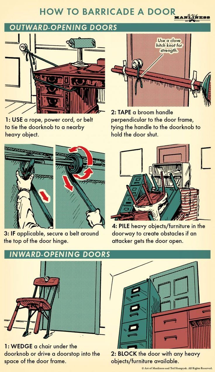 How to Barricade a Door   The Art of Manliness #lifehacks
