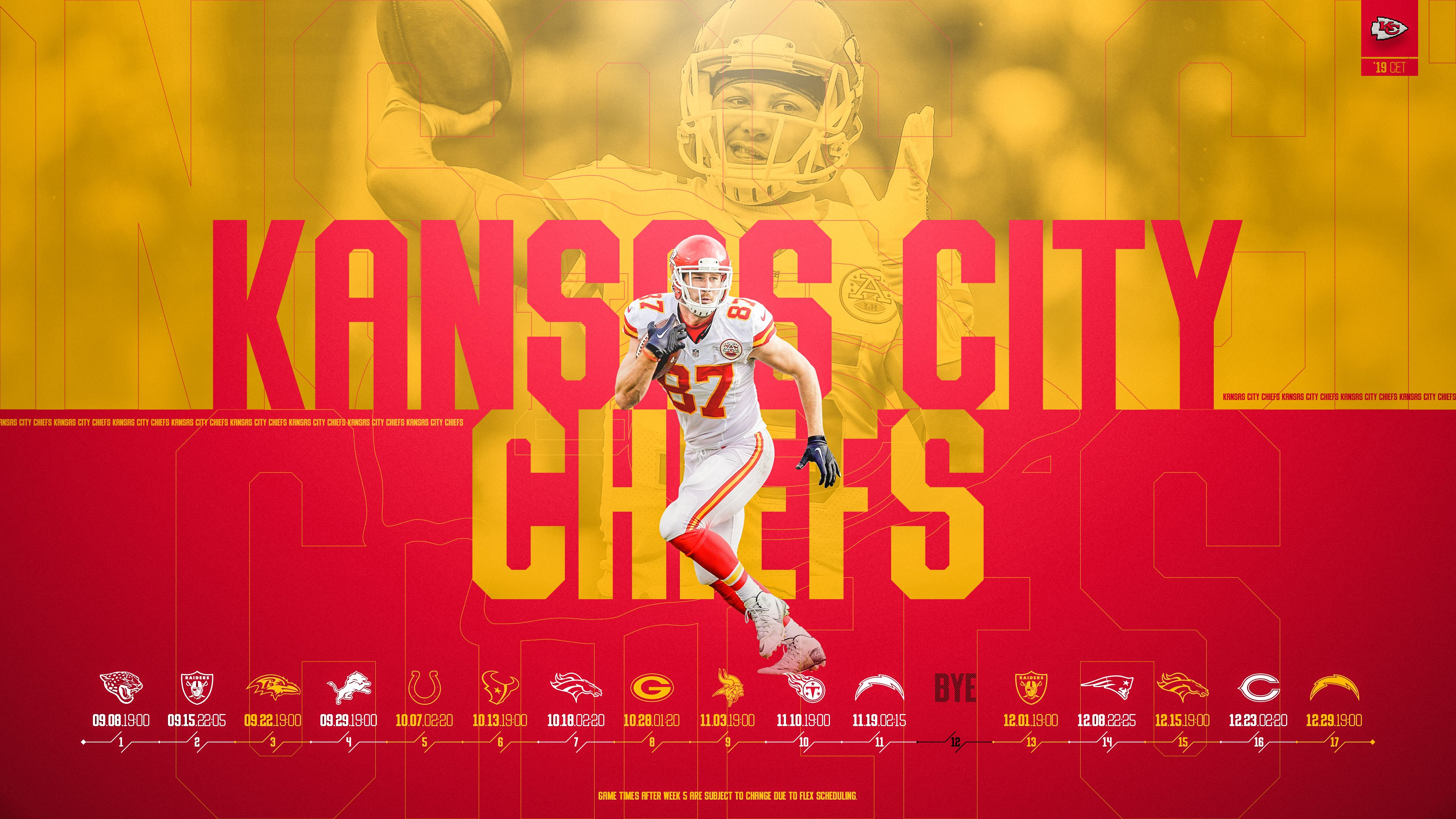 Schedule Wallpaper For The Kansas City Chiefs Regular Season 2019 Central European Time Made By Tobler Gergo Tgersdiy