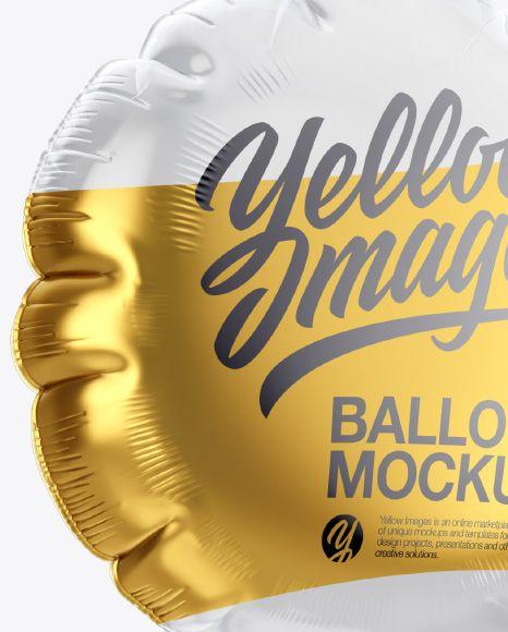 Transparent Round Foil Balloon Mockup