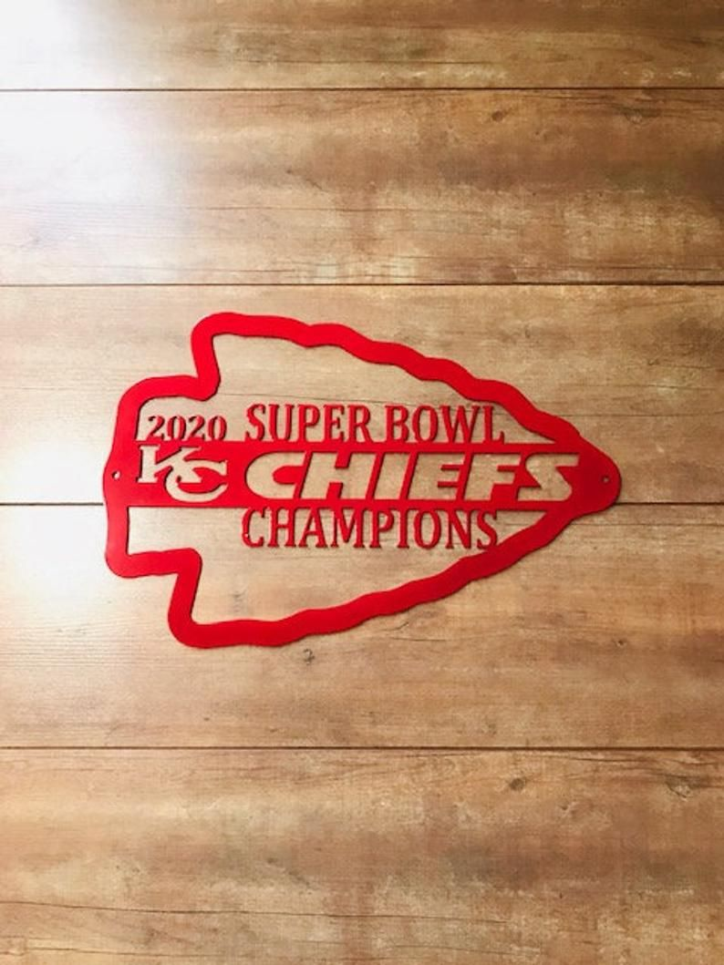 Kansas City Chiefs 2020 Superbowl Champions Metal Sign Chiefs Etsy Kansas City Chiefs Kansas City Kansas City Chiefs Logo Kansas city chiefs super bowl champs