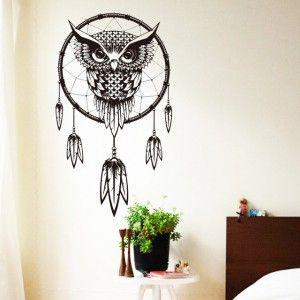 Naklejka Na ścianę łapacz Snów Sowa Duża Mieszkanie