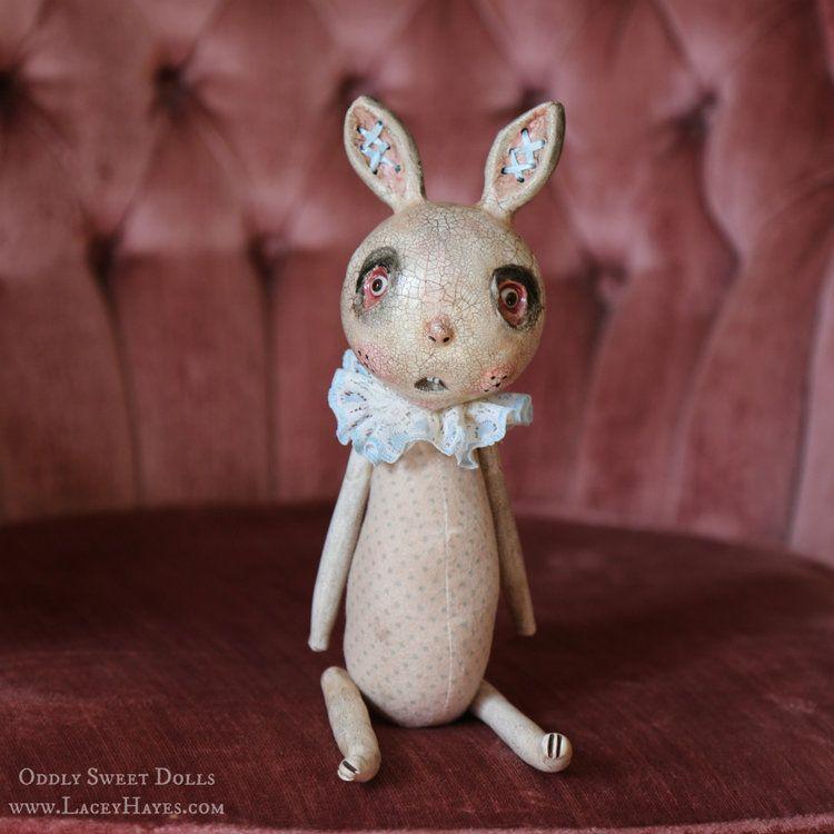 Oddly Sweet Dolls Corset Bunny by Lacey Michelle Hayes  #oddlysweetdolls #artdoll #ooak #handmade #paperclay #polymerclay