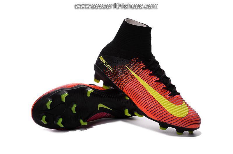 buy popular eef0e 667c4 Nike Men s Mercurial Superfly V FG Football Boot Hi Top Soccer Cleat Pink  Orange Yellow  76.00