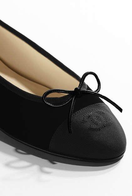 Ballerines, velours   gros-grain-noir - CHANEL …   chaussure de reve e8d88bb0b0c7