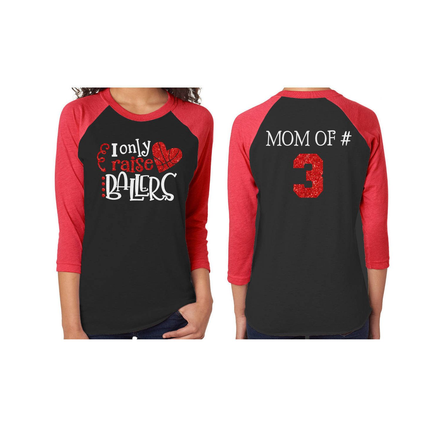 Just A Mother Trying Not to Raise Unisex 3//4 Sleeve Baseball Raglan Tee
