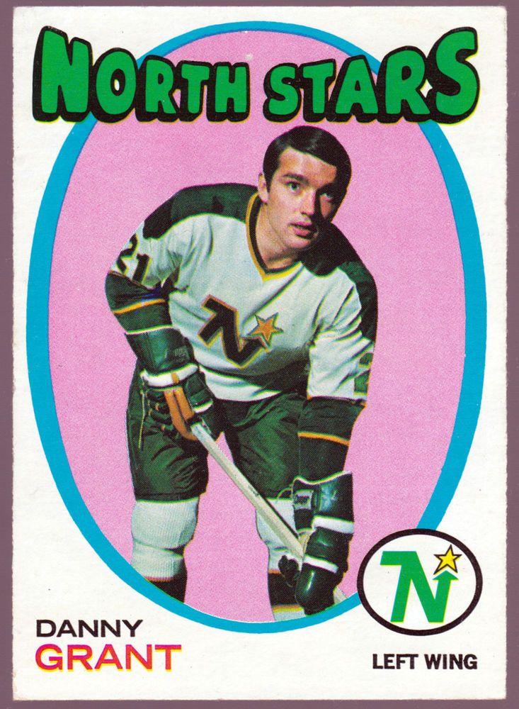 Minnesota north stars 197172 topps danny grant exnm free