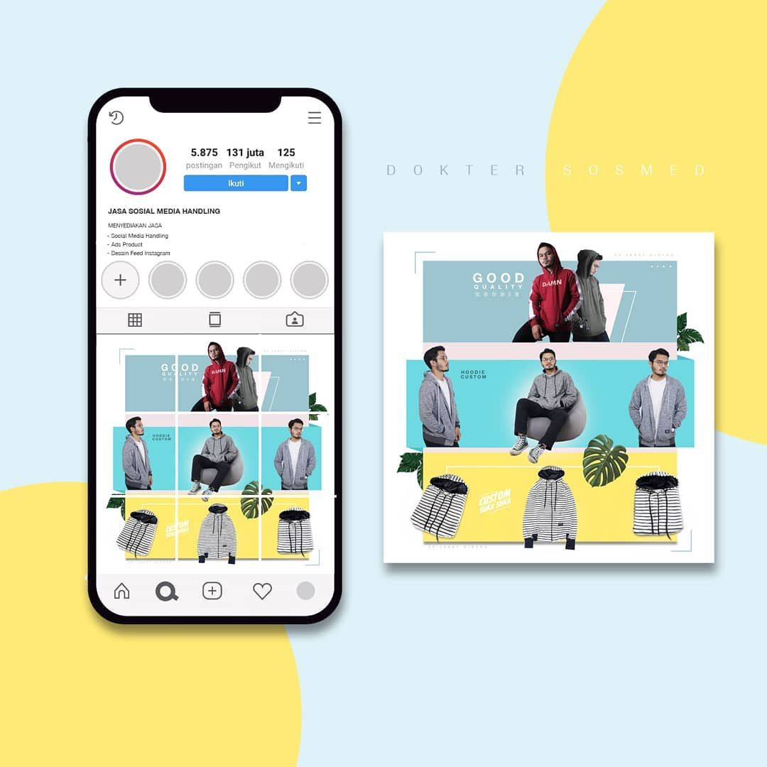 IG feed for Online Shop Client 22jaketdistro . feed