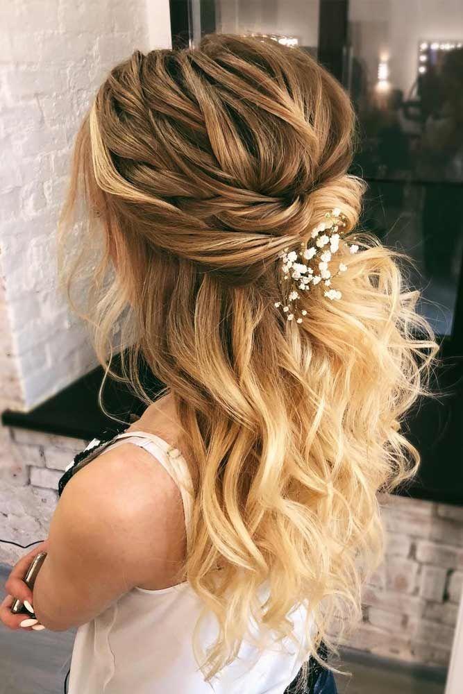 55 Incredible Hairstyles for Thin Hair   Bridal hair half ...