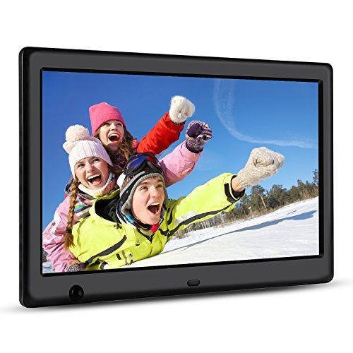 Apzka 10-Inch HD Digital Photo Frame with Motion Sensor & Auto ...