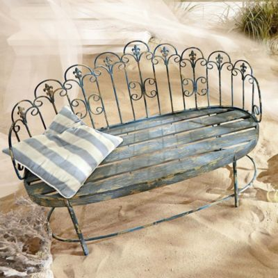 Nostalgie pur: Gartenbank aus Metall im shabby Look | Outdoor ...