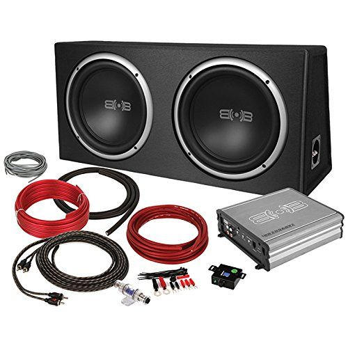 Belva 1200 Watt Complete Car Subwoofer Package Includes Two 2 12 Inch Subwoofers In Ported Box Monoblock Amplifier Amp W Car Subwoofer Ported Box Subwoofer
