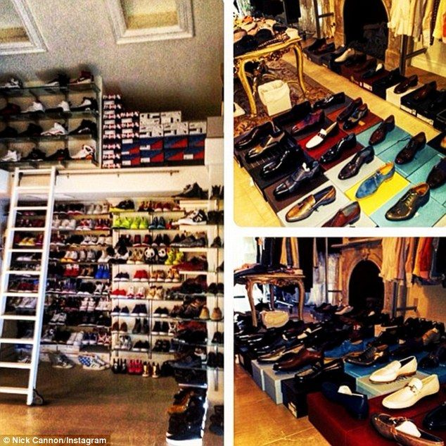 Kicking Back: Nick Soon Pointed Out He Also Has Another Even Bigger Shoe  Closet At His Los Angeles House