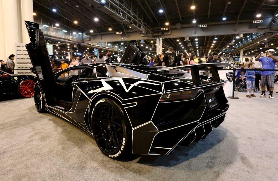 A Customized Lamborghini Aventador Sv Is Seen At The 2016 Houston