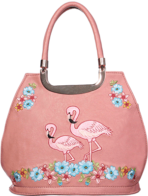Women/'s Flamingo Black /& White Vintage Retro Shoulder Bag By Banned Apparel