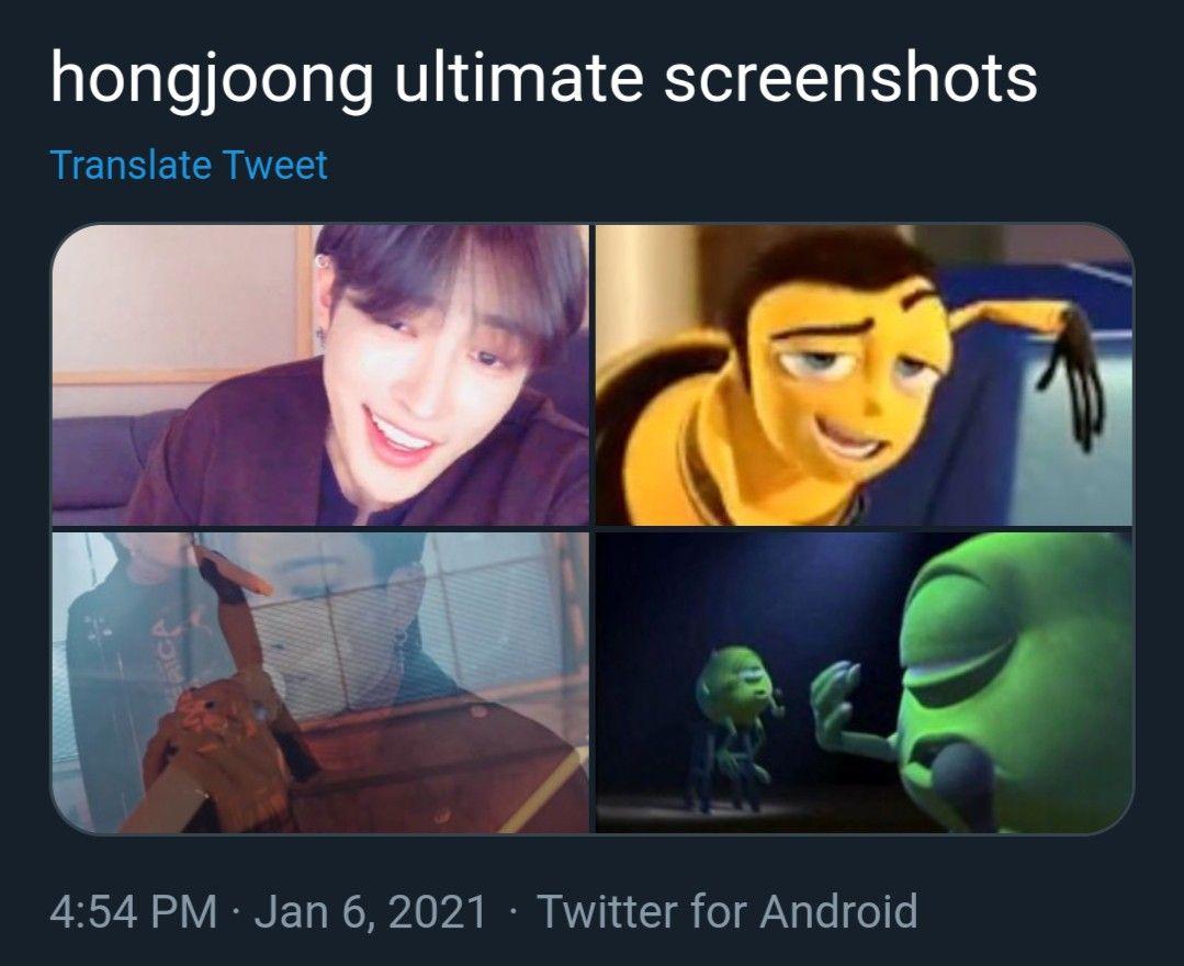Ateez Official Ateez Atiny Kimhongjoong Hongjoong Hongjoonedit Kangyeosang Songmingi Parkseonghwa Choisan Choijongho In 2021 Kpop Memes Memes Funny Memes