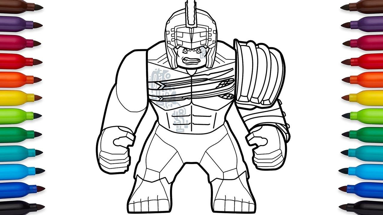 How To Draw Lego Hulk From Marvel S Thor Ragnarok Movie Ragnarok Movie Lego Hulk Superhero Coloring Pages