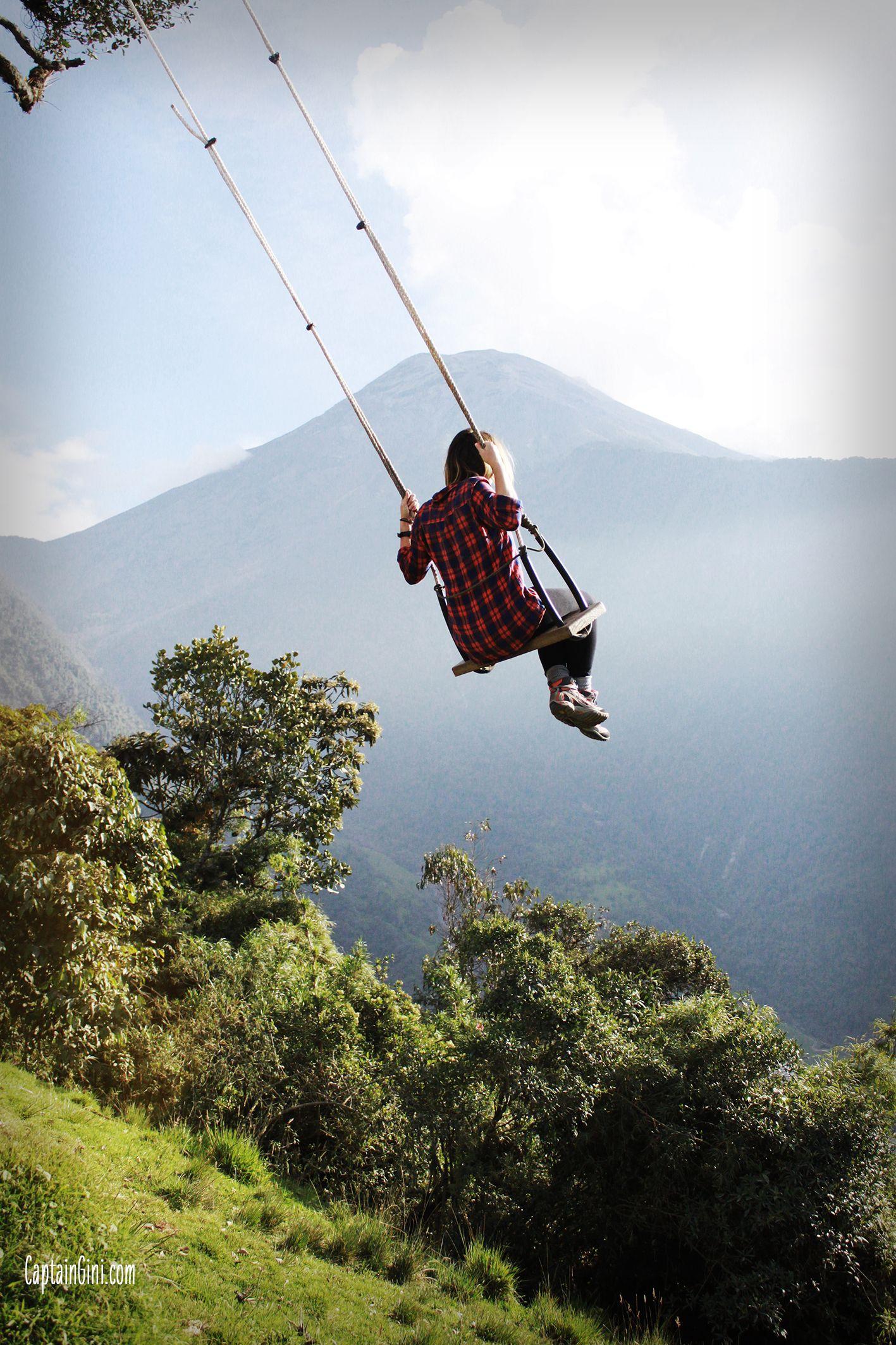 The swing at the end of the world - Banos - Equateur. Tous les articles sur www.captaingini.com