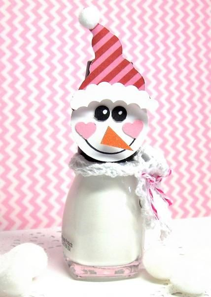 Nail Polish Snowman by !Beth! - Cards and Paper Crafts at Splitcoaststampers