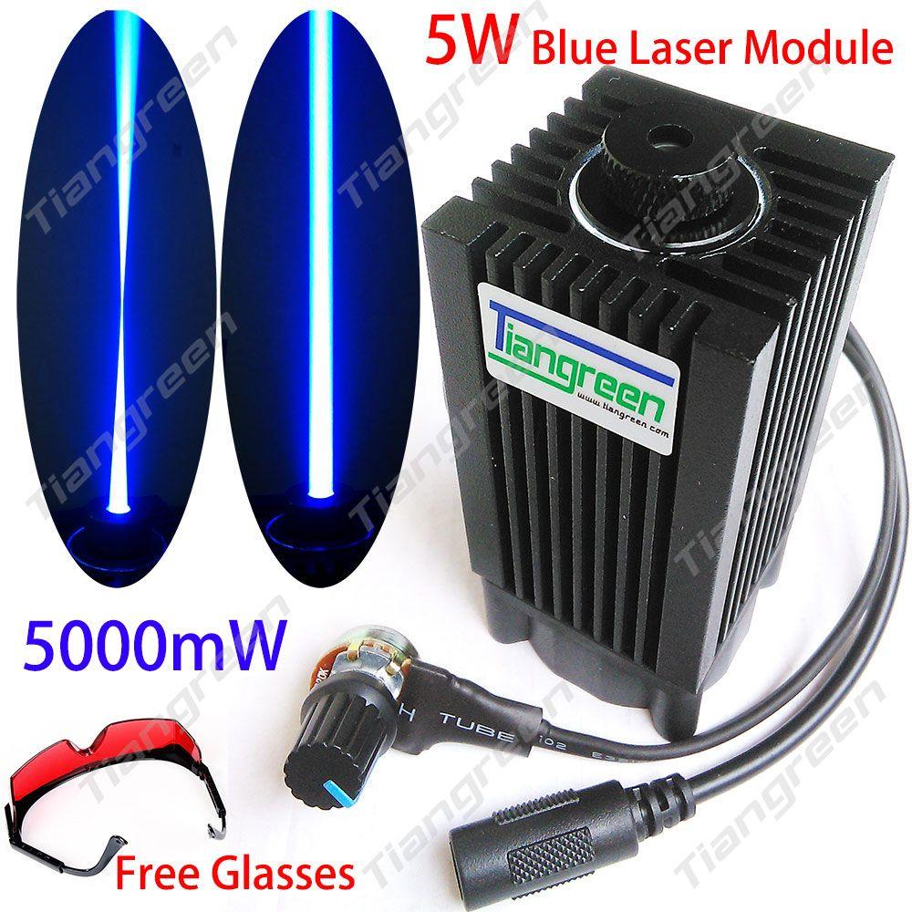 445nm 5W Blue Laser Module 450nm 5000mW Laser Head +