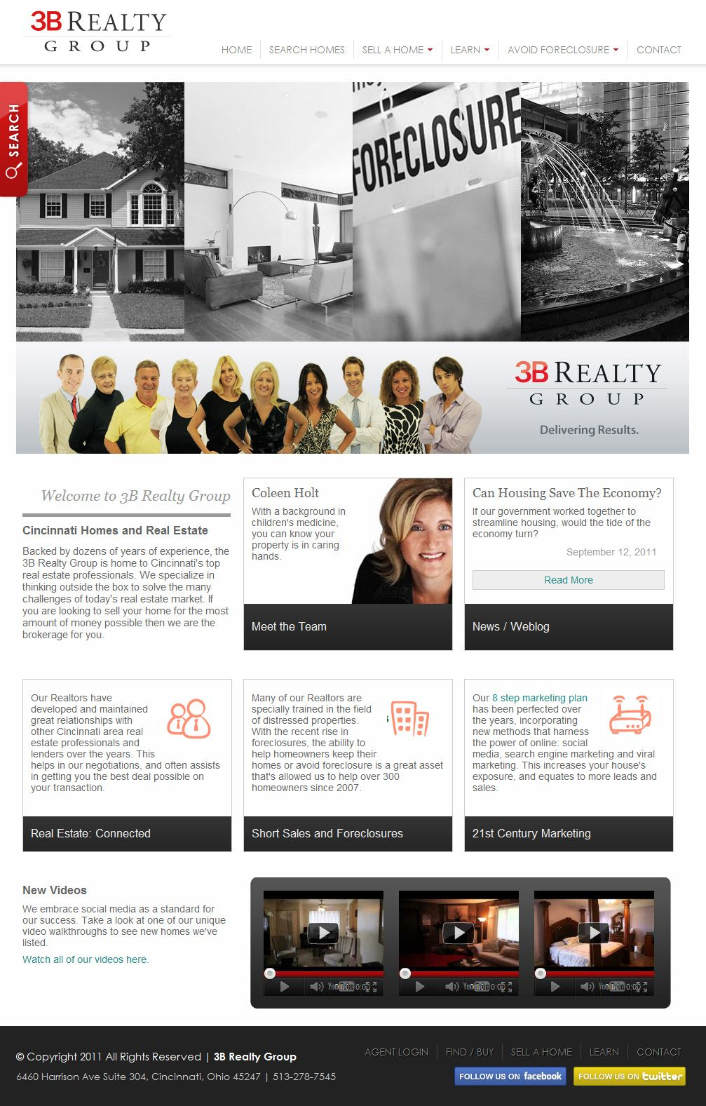 Home and Real Estate -- Realtor website design. Cincinnati web ...