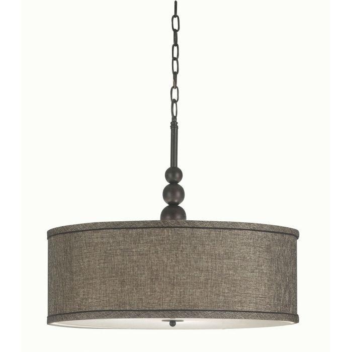 Bronze 3 Light Chandelier Drum Shade Pendant Lamp Ceiling Fixture Home Lighting | eBay