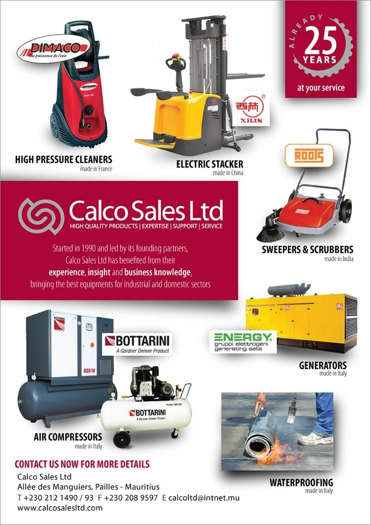 Calco Sales Ltd - New industrial equipment for factories. Tel: 212 1490