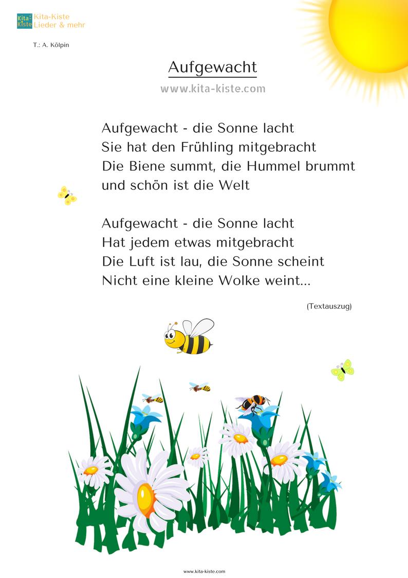 Gedicht Frühling Kinder Kindergarten Kita-Kiste | Gedichte ...