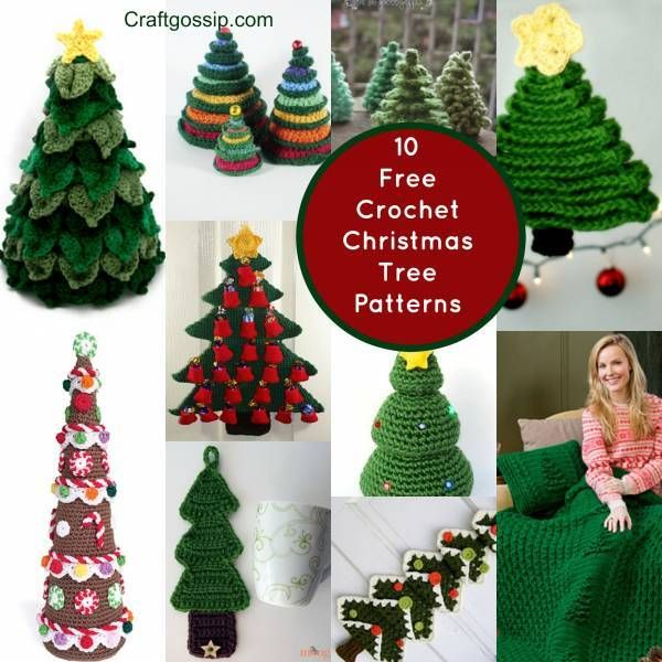 10 Christmas Tree Crochet Projects You Have To Try | Pinterest ...