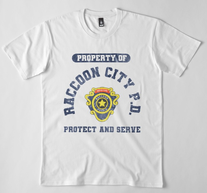 Raccoon City Police Department Resident Evil 2 Slim Fit T Shirt Video Game T Shirts Resident Evil Raccoon