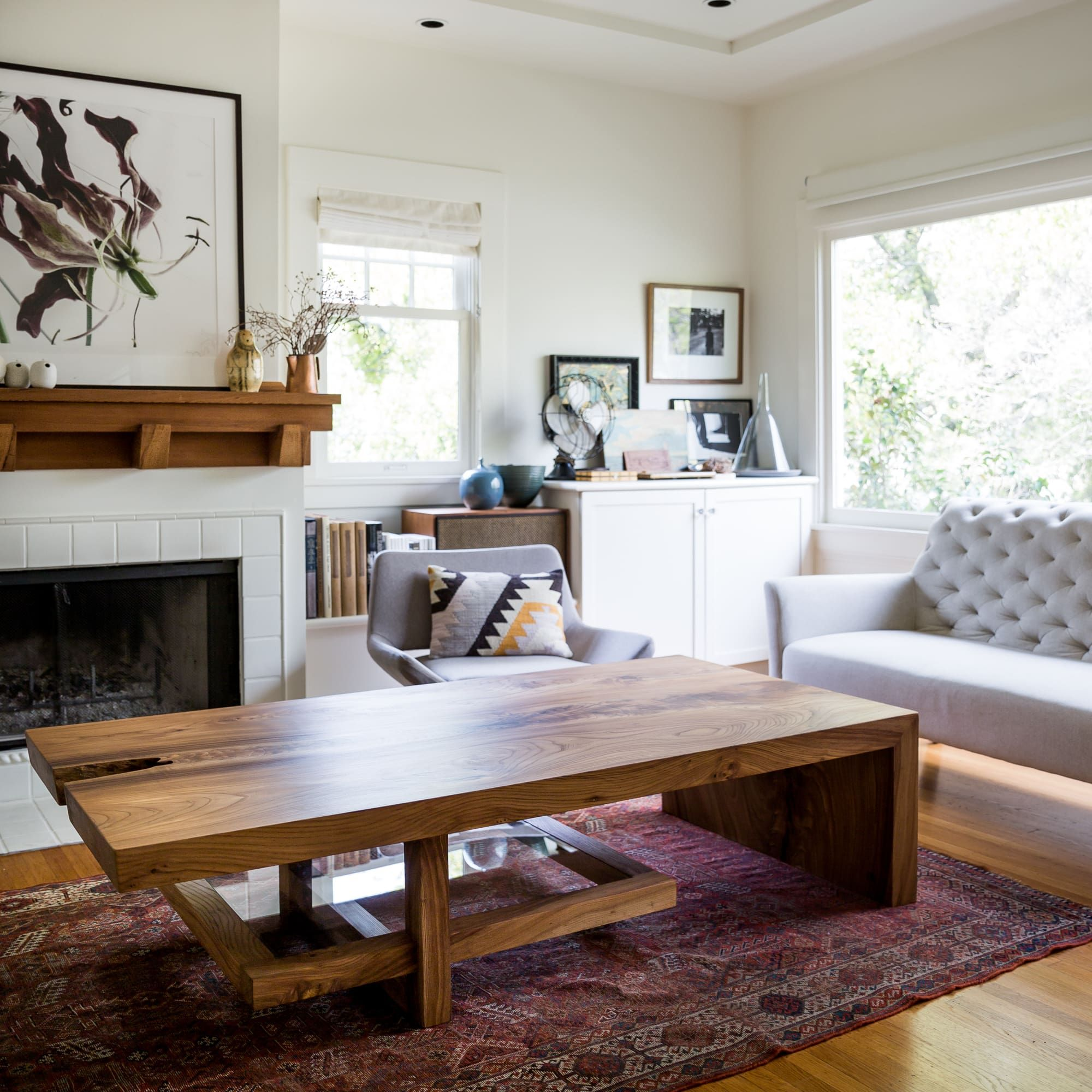 Custom Elm Coffee Table By Evan Shively And Arborica At Private Residence San Francisco