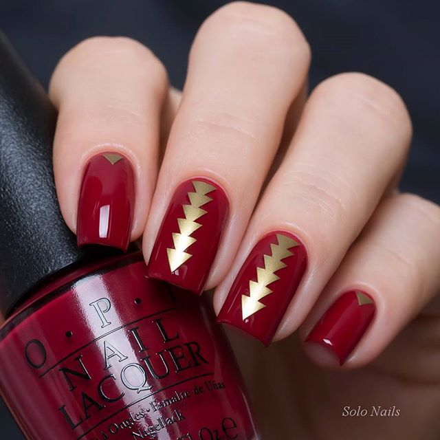 "OPI ""Amore At The Grand Canal"" & трафареты RockNailStar0"