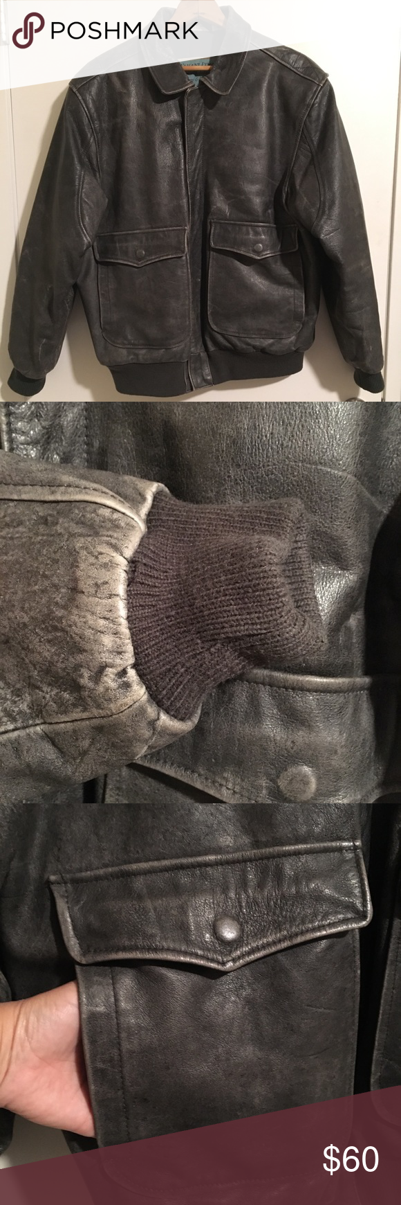 a9a86ec30 Aeropostale Compagnie Generale bomber jacket gray Jacket is in good ...