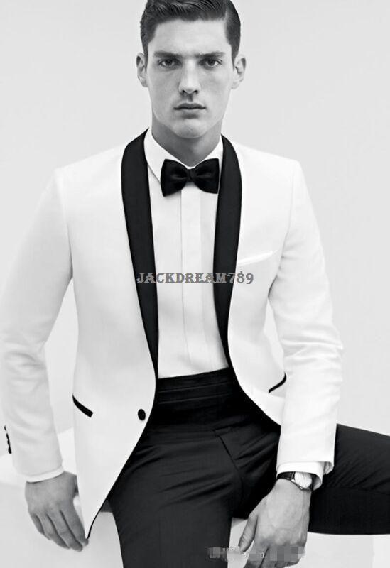 2015 Custom Made Career Suits Business Groom Tuxedos Men's Dress ...
