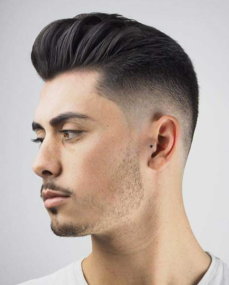 30 Pompadour Haircut Ideas For Modern Men Styling Guide In 2020 Haircuts For Men Pompadour Haircut Slicked Back Hair