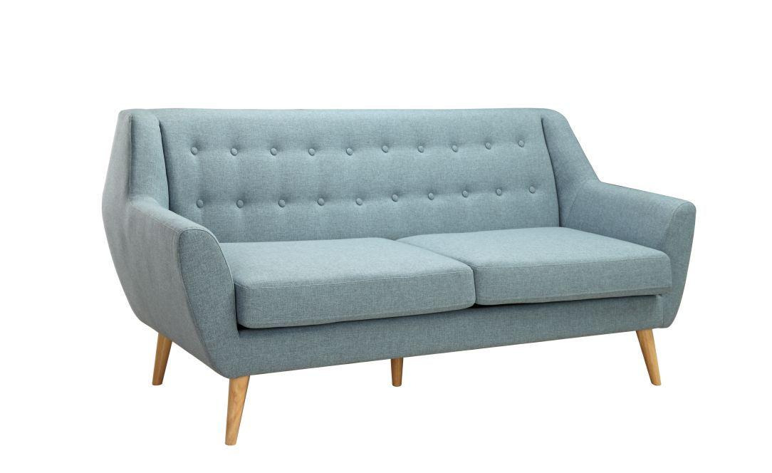 Divano Betty 3 posti tessuto azzurro | sala | Pinterest | Divano ...