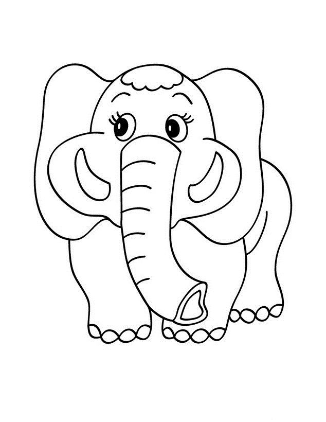 Animal Coloring Sheets Preschool : Elephant coloring pages for kids preschool crafts